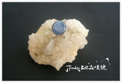 藍晶石+月光石,晶簇淨化床。