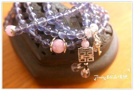 堇青石+紫鋰輝石+粉晶青金石108顆。.