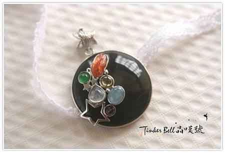 黑瑪瑙+太陽石+月光石+海水藍寶+紅黃晶+玉,五行