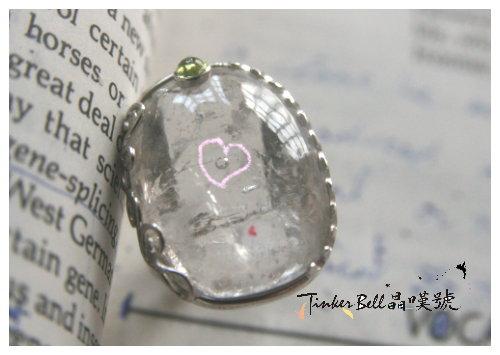 7號水膽水晶+綠橄欖石戒指,療癒好自己,讓自己成為一個完美潔淨的管道。