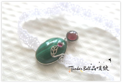 孔雀石+紅石榴石+紅晶,展現令人驚艷的膽量與自信。.jpg