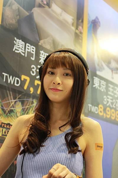 ITF台北國際旅展,集章送福袋,展場SHOW GIRL