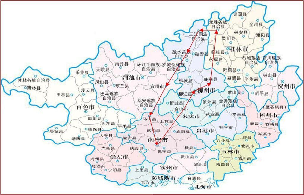 廣西旅遊地圖map
