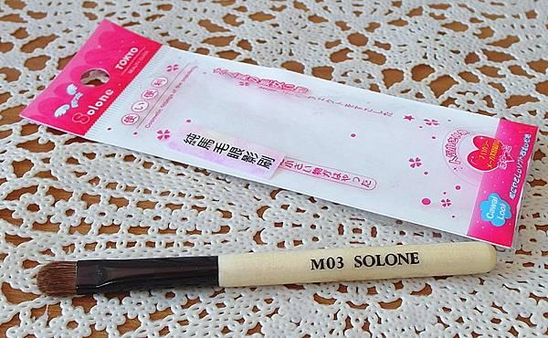 Solone M03原木純馬毛眼影刷