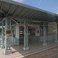 中途經過的竹崎車站..聽說是全木照的..