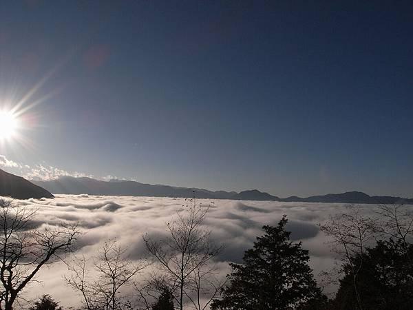下山時的雲海..