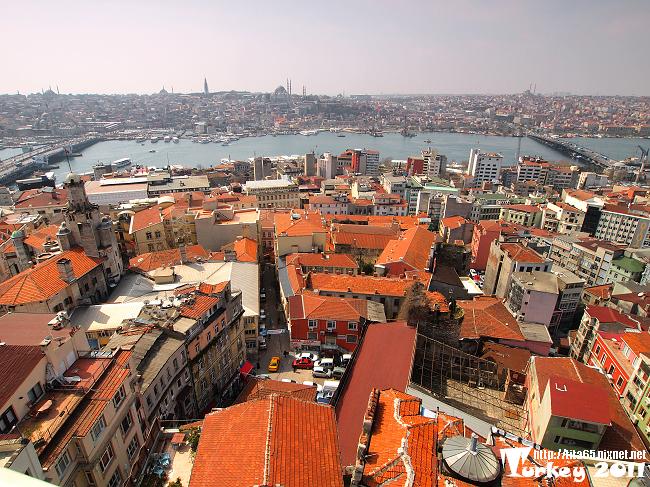 Galata kulesi 卡拉達塔上遠眺舊城區