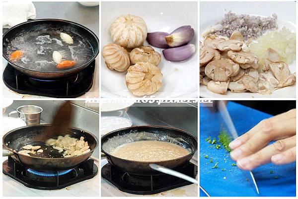 奶油洋菇鱸魚排附香芹馬鈴薯_配料醬料處理