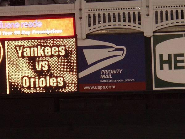 19 win-Yankee VS Orioles這一場比賽是對上金鶯隊