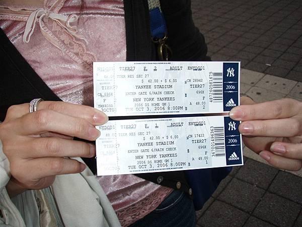 post season Game 1-Tickets得來不易的票!是原價唷!連黃牛都沒有...是我們在窗口等release的釋出票