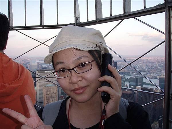 DAY 6-帝國大廈上的景色:語音導覽!裡面是個很扯的大陸腔調的語音導覽