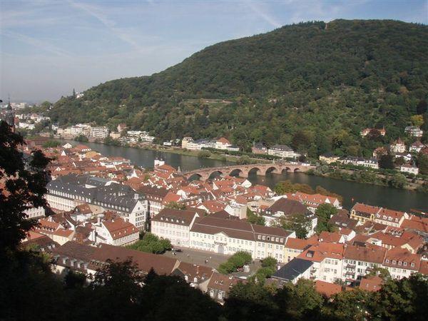 Day2-由海德堡古堡內俯瞰海德堡市區...美吧!!!