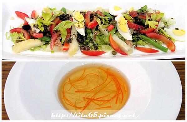 尼斯沙拉_蔬菜絲雞清湯