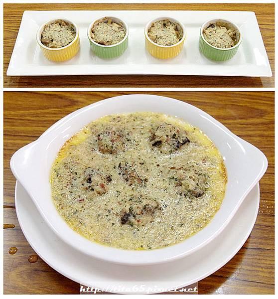 法式焗田螺_香料奶油焗野菇