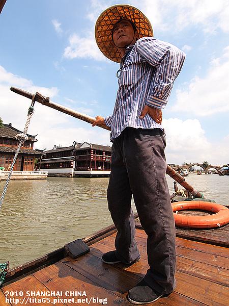 朱家角~這位大哥據說幫連爺爺撐過船