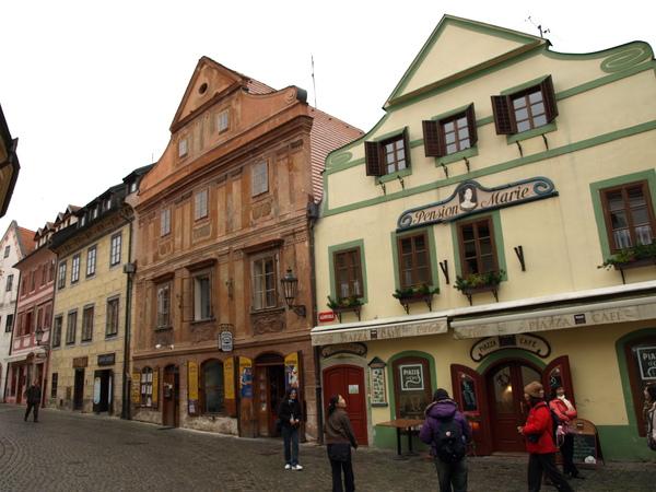 市政廣場周圍的彩色房子