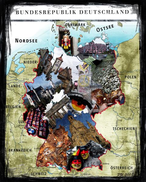 PS Class要交的拼貼作品!就用我最愛的德國吧!!!