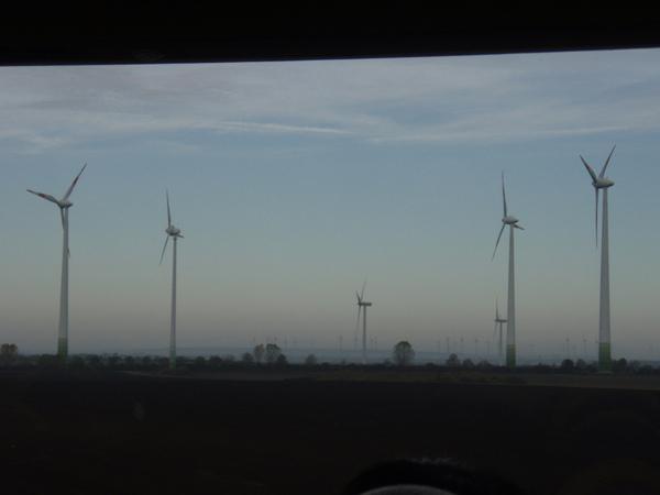 有看到更遠的地方還有一小排風車嘛!??!