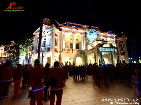聖誕夜@台中市政府~聖誕老公公們來囉!!!