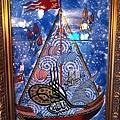 中東風味的瓷磚壁畫