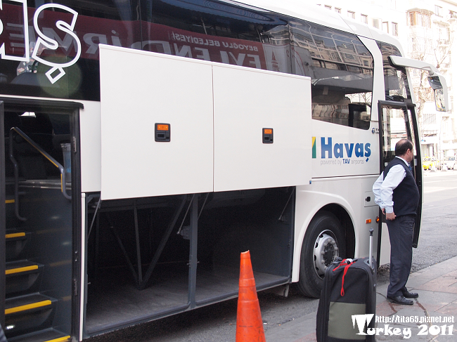IST airport to Taksim by HAVAS bus