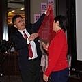 2010 TITC Thanksgiving party 沛錦科技感恩禮拜音樂會--沛錦科技總經理宋智達與母親同唱客家情歌