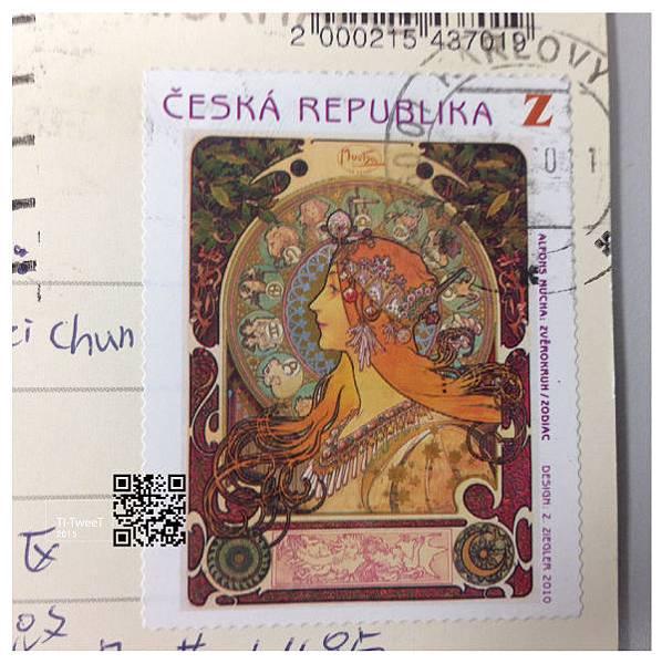Česká pošta - Karlovy Vary 慕夏郵票與郵戳