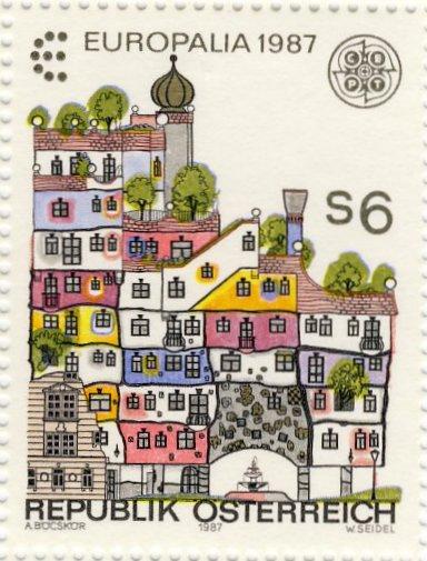 Hundertwasser House stamp.jpg