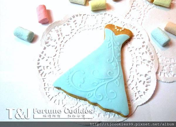 新娘裙 翻糖餅乾-2