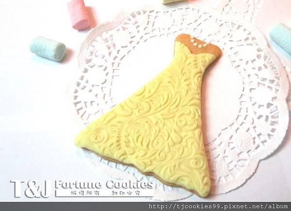 新娘裙 翻糖餅乾-4
