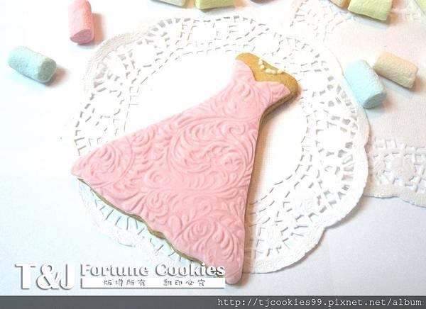 新娘裙 翻糖餅乾-5