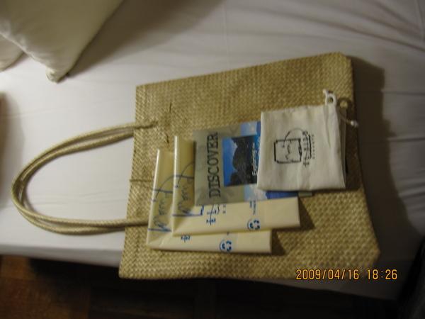 很遺憾沒有帶回來的袋子,還有一些方便大家使用的可分解袋