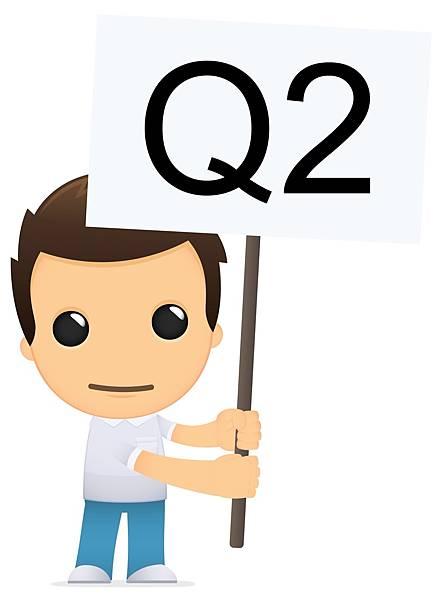 男孩正拿著轉學考Q2的旗子表達疑問