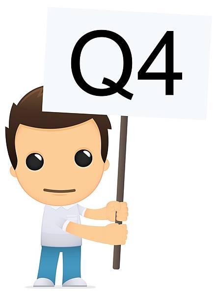 男孩舉著Q4的旗子詢問內轉和外轉的區別