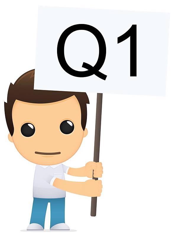 小男孩拿著轉學考Q1的旗子