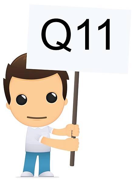 The boy更靦腆的拿著Q11的牌子詢問大一學生可否報名大學轉學考?