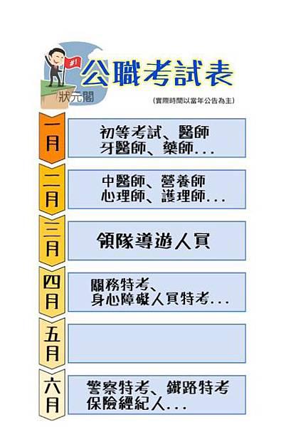 公職考試時間/公務人員考試時間/公務員考試時間