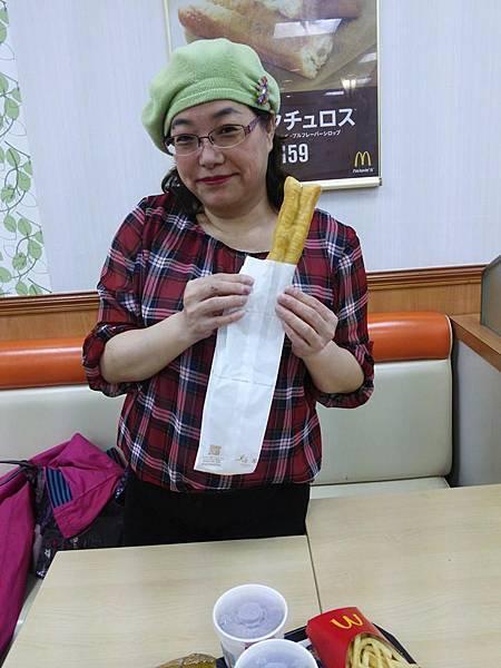麥當勞賣油條,日文叫マックチュロス