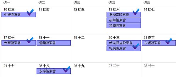 2013股東會行程