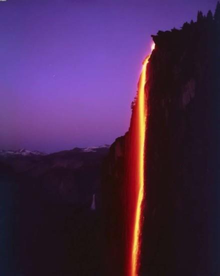 美國賽米蒂馬尾瀑布