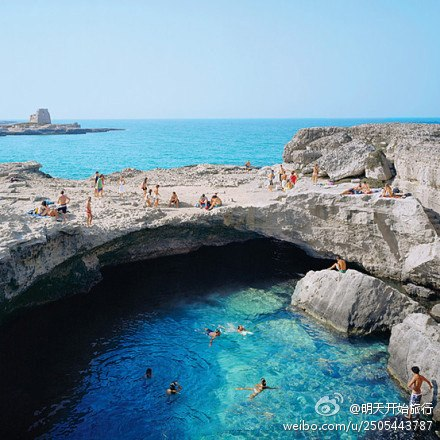 義大利羅卡天然泳池