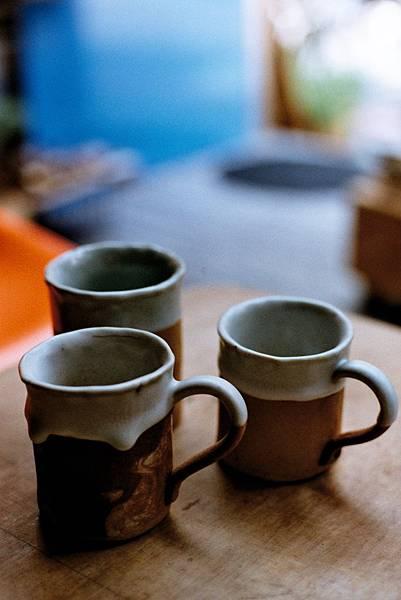 雲林崙背鄉老土工作室。牛奶杯