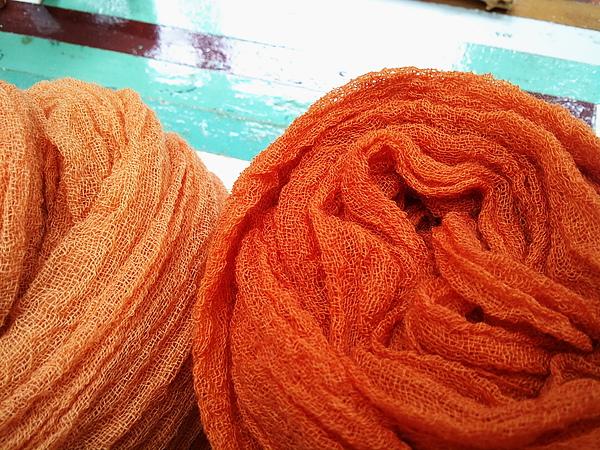 植物手染羊毛圍巾