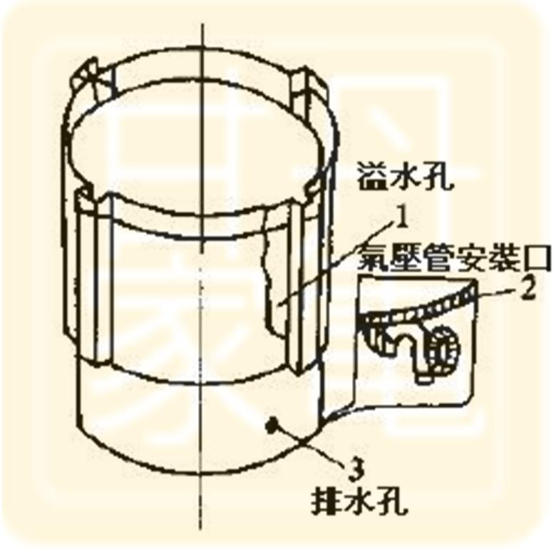 回水管及過濾網結構示意圖