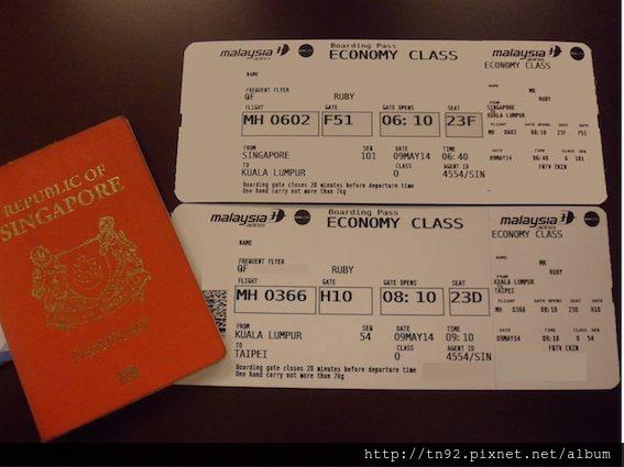 009 Boarding Passes for Both Flight Sectors