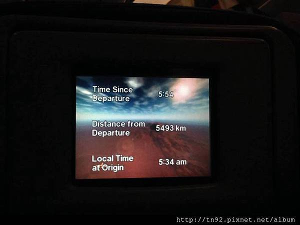 IMG_7609 0534h Flight Info During Breakfast