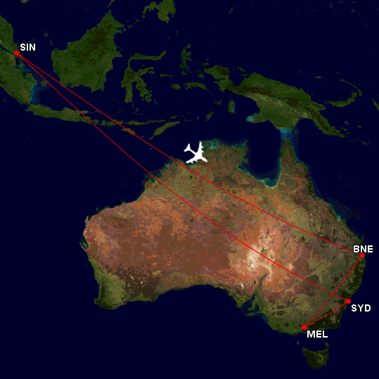 002 Flight Map (23 Sep to 3 Oct) EDITED