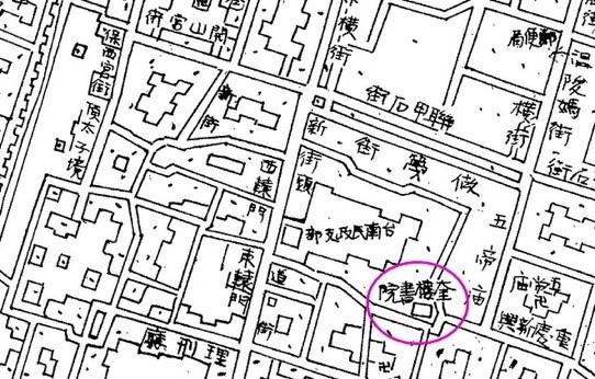 1896年臺南府迅速測圖中奎樓書院.jpg
