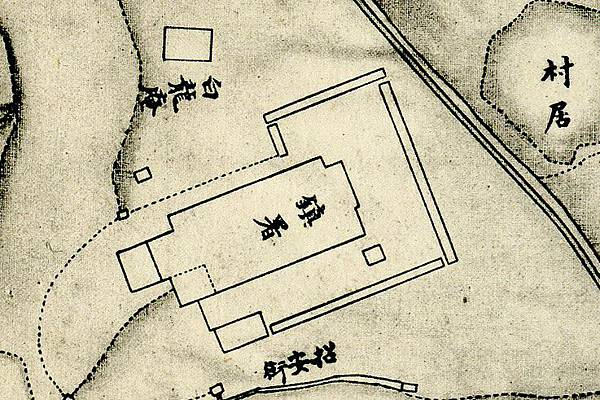 1875年間〈臺灣府城街道圖〉中之「總鎮署」.jpg