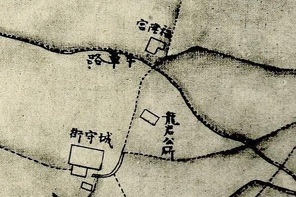 1875年間〈臺灣府城街道圖〉中城守營參府署.jpg